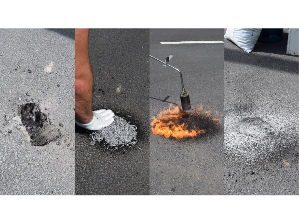 product photo chipfill asphalt repair step by step