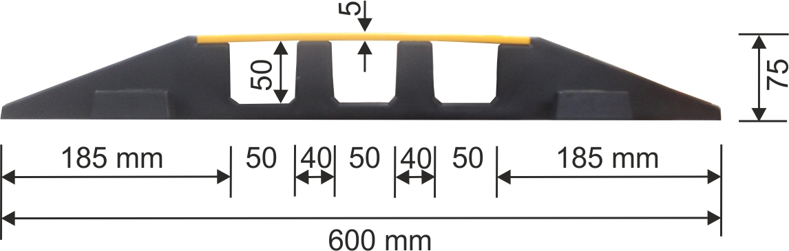 cable protector channel midpiece 500 mm dimensions