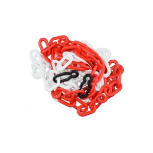 plastic safety chain red-white