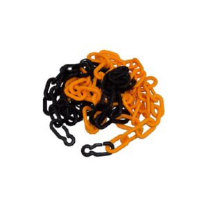 plastic safety chain yellow-black