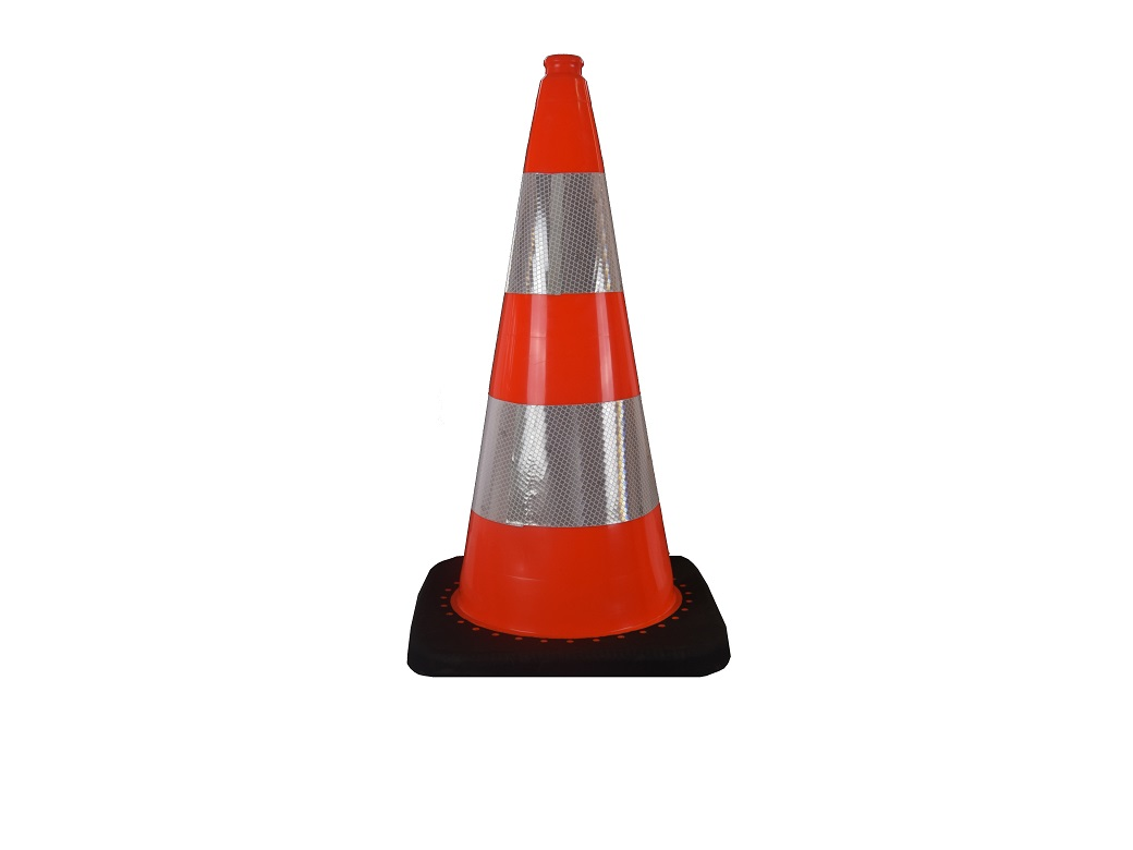 traffic cone 75 cm with weighted base
