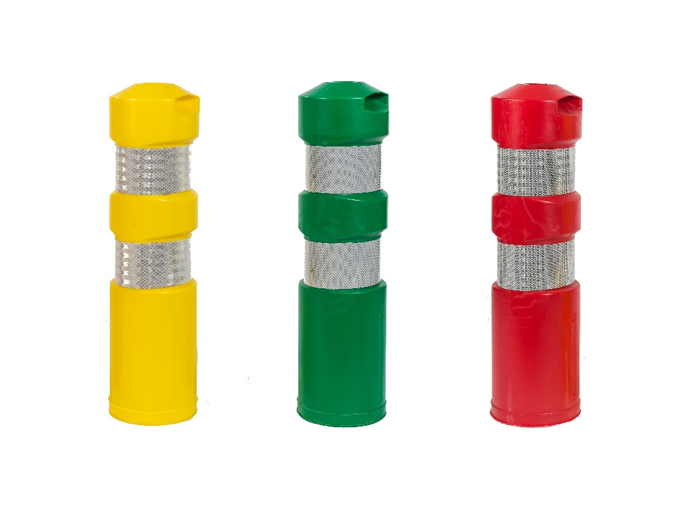 flexi road bollard yellow green red