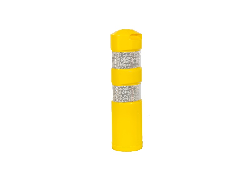 flexi road bollard yellow