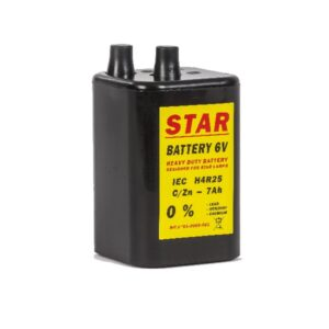 Traffic warning light battery
