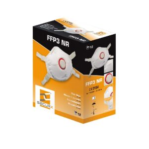 Fine dust masks FFP3 with exhalation valve – 12 pieces