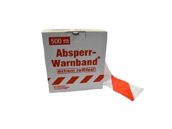 Rol signalisatie afspanlint plastic rood-wit