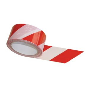 Self-adhesive PVC warning tape red-white
