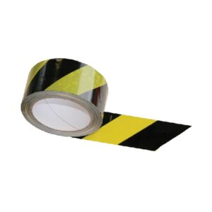 Self-adhesive PVC warning tape yellow-black