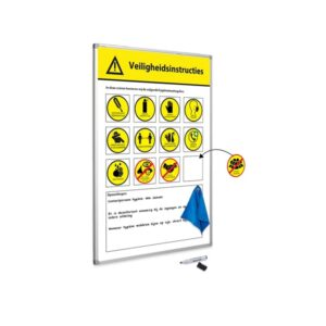Safety board - for instructions
