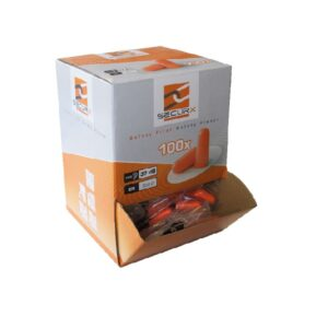 SecurX box of 100 disposable earplugs