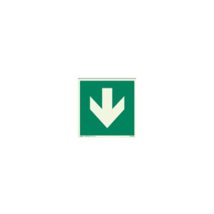 Icon sign - glow in the dark - glow-in-the-dark emergency exit arrow