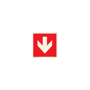 Icon sign - glow in the dark - glowing fluorescent - fire exit arrow