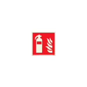 Icon sign - glow in the dark - glowing fluorescent fire hose