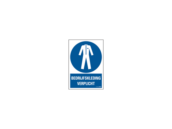 Icon sign - NL - corporate clothing mandatory