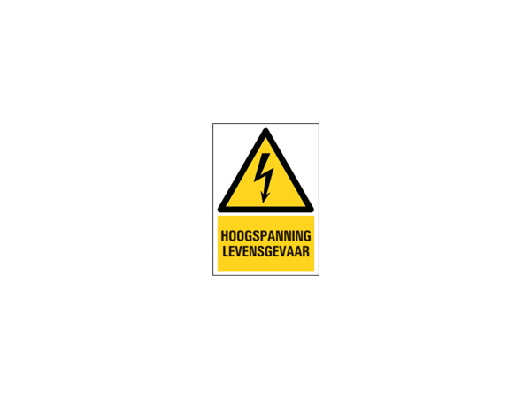 Icon sign - NL - high voltage danger to life