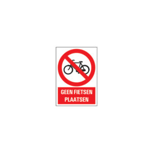 Icon sign - NL - do not place bicycles
