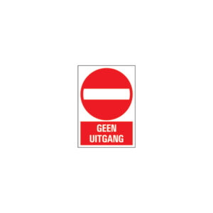 Icon sign - NL - no exit