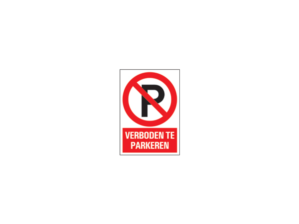 Icon sign - NL - forbidden to park