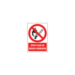 Icon sign - NL - open fire and smoking prohibited