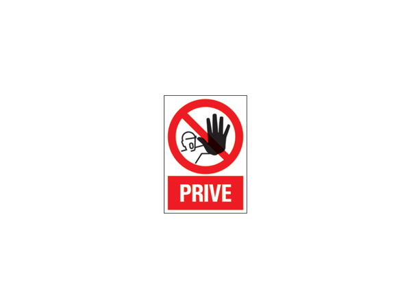 Icon sign - NL -geen toegang privé