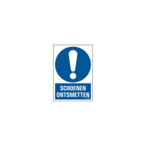 Icon sign - NL - disinfect shoes