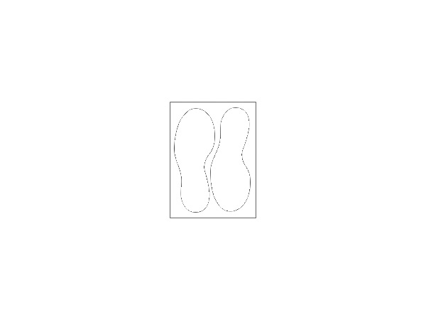 Stickers - 190 x 270 mm - footsteps - white