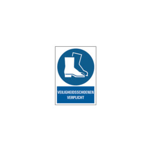 Icon sign - NL - safety shoes required