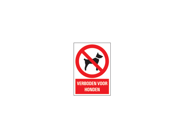 Icon sign - NL - prohibited for dogs