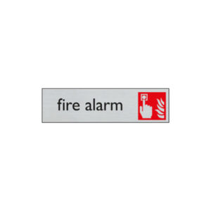 Door sign - 165 x 44 mm - EN - fire alarm