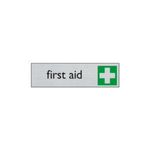 Door sign - 165 x 44 mm - EN - first aid