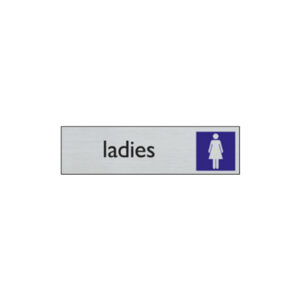 Door sign - 165 x 44 mm - EN - women toilet
