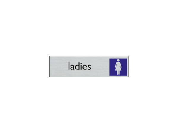Deurbord - 165 x 44 mm - EN - dames toilet