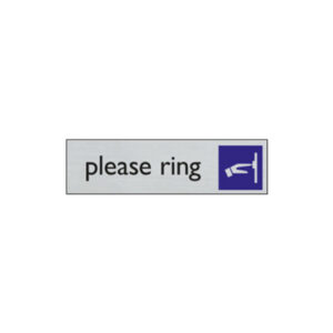 Door sign - 165 x 44 mm - EN - ring