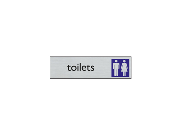 Deurbord - 165 x 44 mm - EN - heren dames toilet