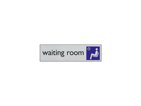 Door sign - 165 x 44 mm - EN - waiting room