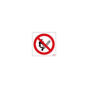 sticker - prohibited to create flame or fire