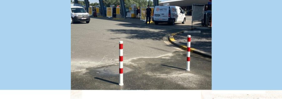 Customer in the spotlight: Shell E40 Wetteren - removable poles